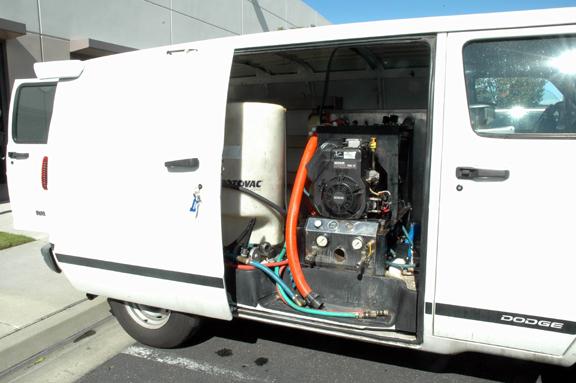 Carpet Cleaning TruckMount Van