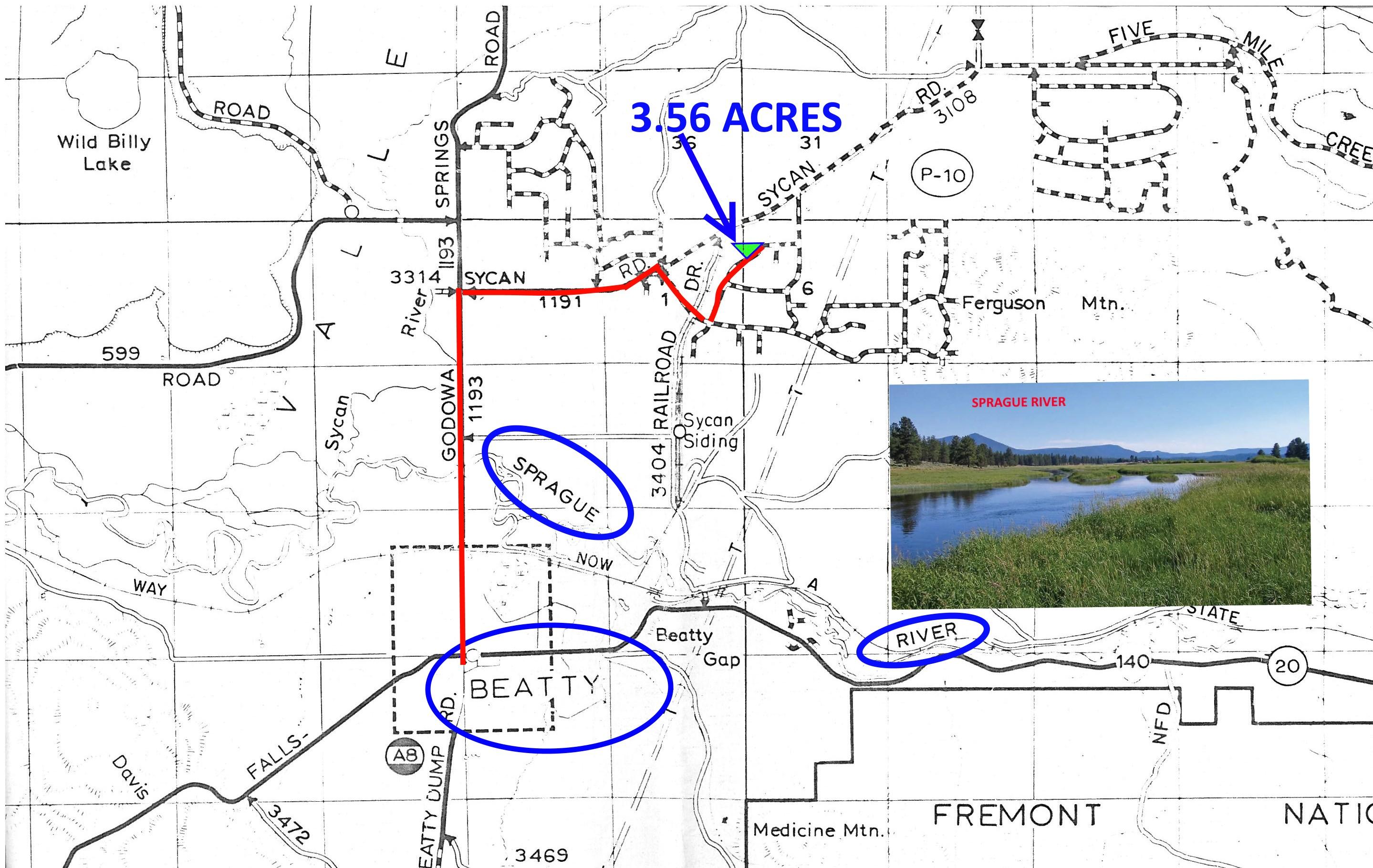Oregon 3.56 Acres! $149 Month!