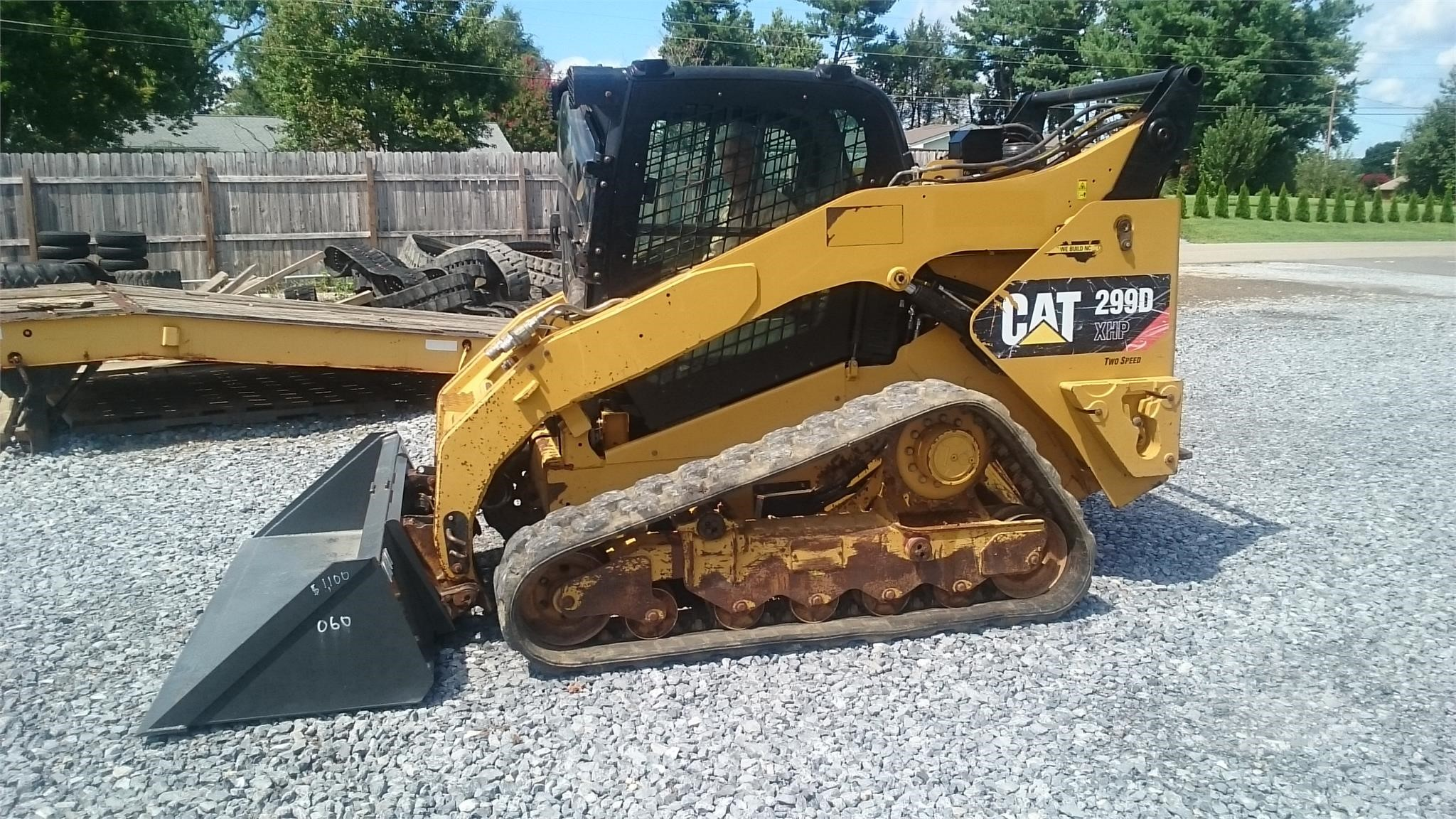 2013 CATERPILLAR 299D XHP FORESTRY MACHINE HIGH FLOW AUXILIARY HYDRAULICS ENCLOSED CAB WITH DEMOL