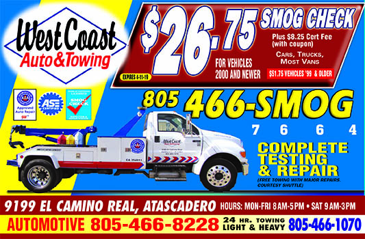 West Coast Auto  Towing 24 Hour Towing call 805-466-1070 Light and Heavy 9199 El Camino Real