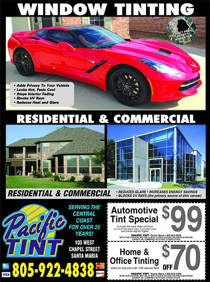 Pacific Window Tint- Serving SLO  SB Counties for over 25 years Auto Residential Office Commerc