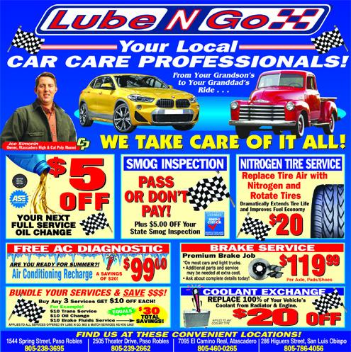 Lube N Go >> Lube N Go Services San Luis Obispo Ca Recycler Com