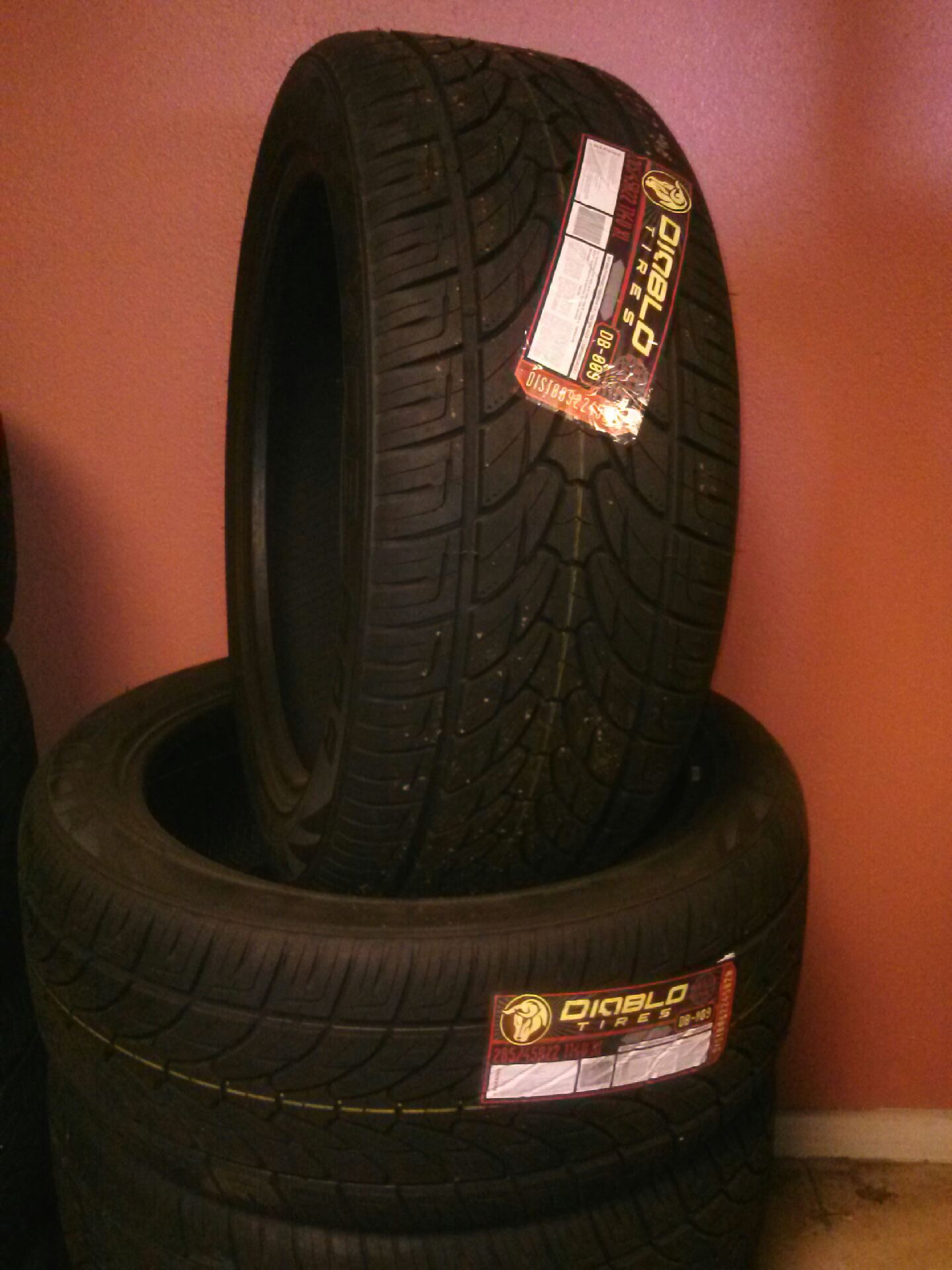 28545R22 Diablo tires on sale for 139 each We offer financing for 3 and 6 months no interest Ca