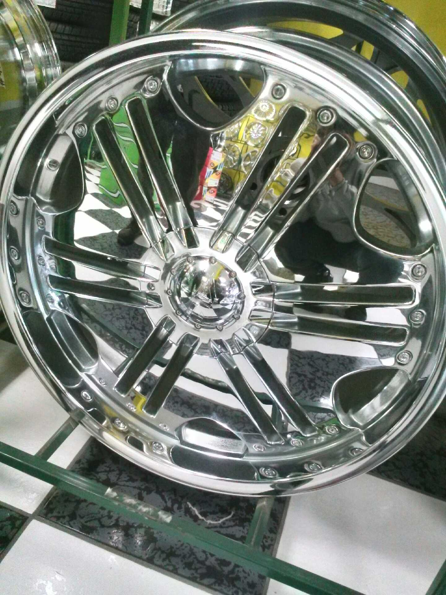 22 Chrome wheel from  ALT with a bolt pattern of 6x139 All four wheels are on sale for 799We off