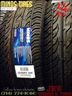 Minos Tires  22555ZR17  Looking for the best deals in custom wheel packages youve come to the