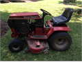 12 horsepower Kohler engine 42 rear discharge mower deck Comes with pull cart