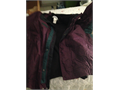 3in1Mens Medium Bugaboo Columbian JacketGCmaroon with green and black trim inside liner is black