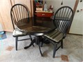 Table 2 chairs 36 Round Black no leaves or inserts pedestal style XC cash only 10000 803-279-4940