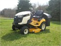 23 HP Kohler V-twin engine 2467 hours includes 48 inch mower deck with electric lift bagger sno