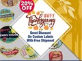 RegaloPrint is offering a 20 discount on labels printing as a gift of Thanksgiving Day to all its c