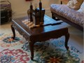 This is a Solid Wood Well Crafted Design Coffee Table  Take a look at the details on the side and o