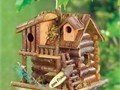 New- HOME GARDEN DECOR GINGERBREAD STYLE BIRD HOUSE BIRDHOUSE WOOD - JACKSON MOU