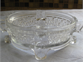 Antique Glass Dish Carved flower design Yucaipa 500 909-795-5207