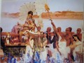 The Finding of Moses - by Sir Lawrence Alma-Tadema reproduction print on canvas 24x30