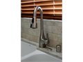 Beautiful Spot-resistant Stainless Finish w pull-out swivel spray Model 87599SRS For single hole