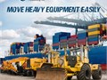Transporting heavy equipment is a major concern of the shippers and one may experience jitters by th