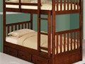 Solid wood sturdy bunk bed with 3 drawer under chest and two twin innerspring mattresses  New whole