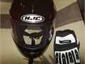 Hjc helmet and gloves xxl used only twice very good condition  80 obo