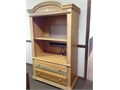 Entertainment Center - Oak  Attractive Solid Wood Construction Built-in Electric Socket  Adjusta