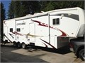 2008 Heartland Cyclone 3210 5th wheel toy hauler with all the goodies32 feet long 2 slides27 g