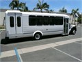 2013 Eldorado Aero Elite shuttle bus on Ford F-550 chassis and drive train 27 passenger capacity wi