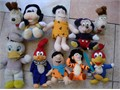 Odie Woody Fred Mickey Donald Goofy Tony Bright Clear Colors Sizes From 8-to-10 Inches