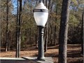 Street Light From Augusta Ga On Original Short Cast Iron Post - No Cracks - Excellent For Patio D