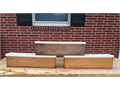 Solid oak planter boxes 20each
