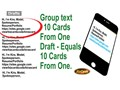 EASY TO USE NEW CONCEPT FOR ELECTRONIC BUSINESS CARDS OR PERSONAL CALLING CARDSSAVES TIME DATA P