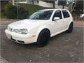 2003 Volkswagen Golf GLS 4 Door Sedan  White Exterior Black Interior 20 Liter engine  Power Do
