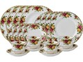 Royal Albert fine bone china collection Country Rose Full dinner service and coffee set for 12 plu