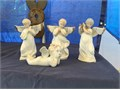 Angel figurines 1 broken wing 1 missing wing 2 complete