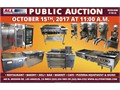 PUBLIC AUCTION ---- SUNDAY  OCTOBER 15 2017Preview begins at 900am   Auction begins at 1