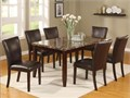38x64 faux marble dining table with six chairs  New wholesale overstock available in Austin 512