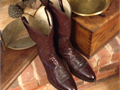 DAN POST BOOTS - Size 11 EW - WORN ONCE - Cordovan - LIKE NEW - ALL LEATHER TOPS AND BOTTOMS - Ornam
