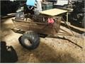 2 wheel cart- Heavy duty metal grating bed Top 25-12W bottom17W 11 12D 48L Ball hitch Ne