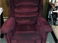 Lift chair with heat and massage Red in color Cloth Purchased Thanksgiving 2015
