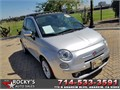 2012 Fiat 500 lounge Used 30232 miles Dealer Hatchback 4 Cyl Silver Black Excellent cond Au