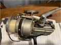 Vintage mid 70s Daiwa open-face spinner reels Silver toned is model 7000c  gold one is model bg90
