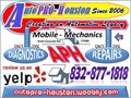 ASE Certified Mobile Mechanics serving Houston Cypress Katy Bellaire Hockley and Spring Branch T