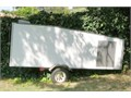 Enclosed trailer  16x4x4 foot interior rear and side key locking doors ceiling vent plastic shea