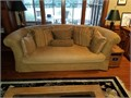 Deep comfort High End Semi  Circular couch five square and one tubular cushions Height 36 weigh