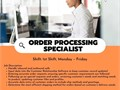 Were hiring Order Processing Specialists This is a seasonal position based out of our Fullerton