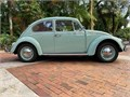 Body-off restoration painted in Bahama Blue with under 286 miles