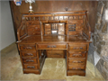 Solid oak roll top desk with hidden compartment in mint condition Solid oak constructioneverythin
