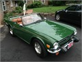 1976 Triumph TR6 -- British Racing green black top tan interior OD 118k miles Well maintained