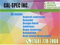 Cal-Spec is committed to making your building or inspection process the best there is to offerWe