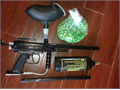 EXTERA Paint Ball gun with Large tank and a Extra combat Barrel Hopper and 500 Rounds of ammo  I