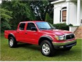 2002 Toyota Tacoma TRD off road package with Differential Lock 34 liter V6 Crew Cab Bedliner c