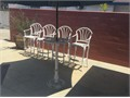Heavy duty metal patio furniture  Excellent quality Will last many many years Tall chairs Glass